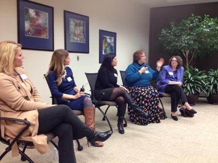 KCWiT panelists give career advice.